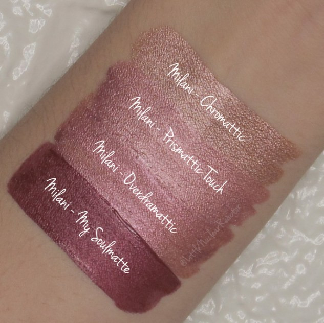 Milani - Metallic Liquid Lipstick Swatches