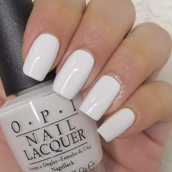 OPIAlpine Snow nail swatch