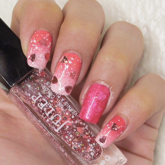 Valentine's Day nail art featuring JulepHartleigh