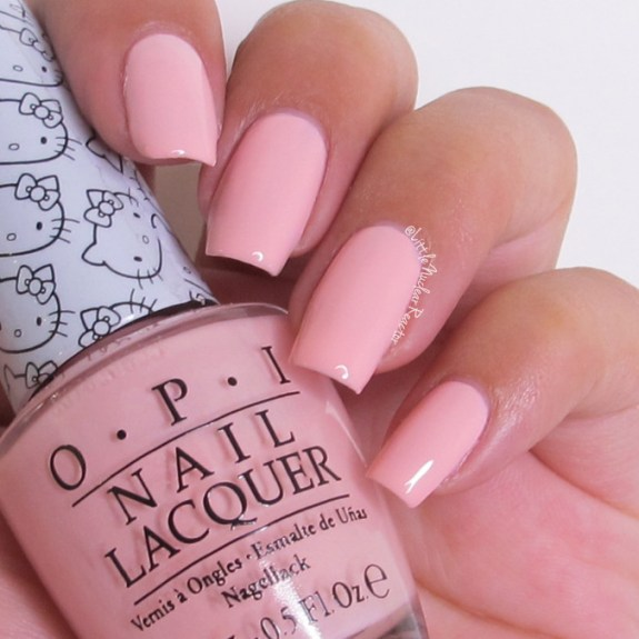 OPI's Small+Cute=<3 nail swatch