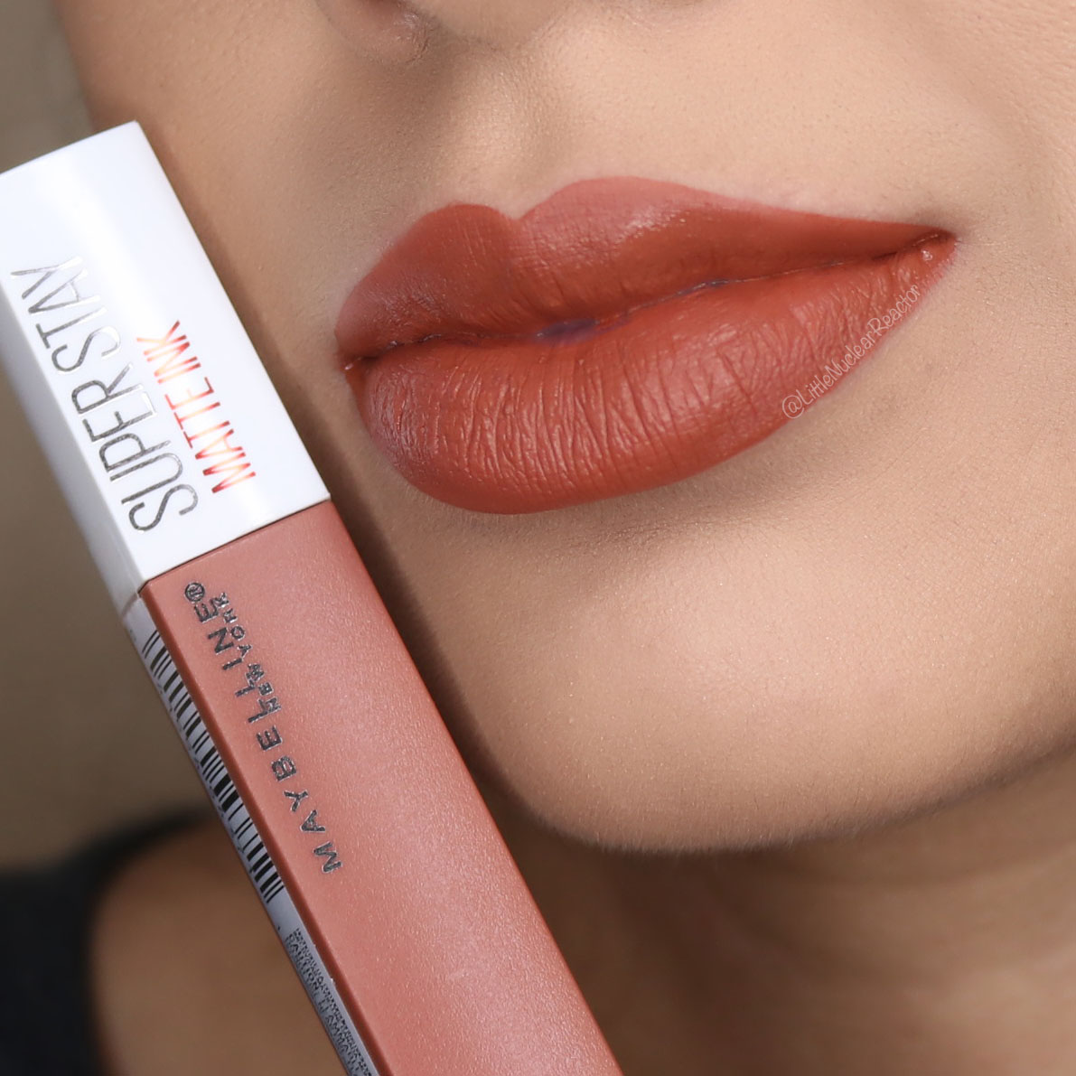 Maybelline Superstay Matte Ink Swatches Review Super Stay Amazonian Lip Swatch