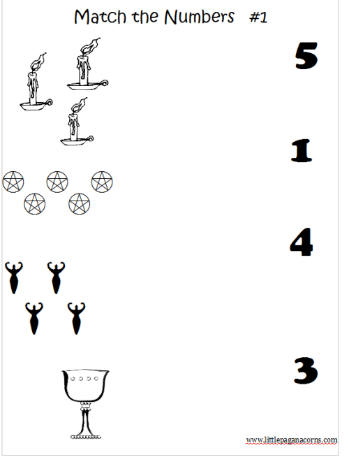 Matching Number Worksheets