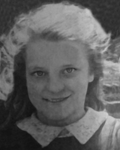 old photo of young girl restored