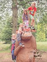 Family on the gruffalo