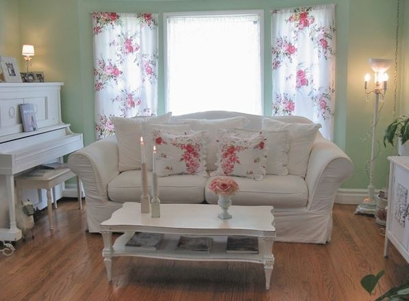 living room decorating ideas cheap window treatment for large shabby chic on a budget - little piece of me