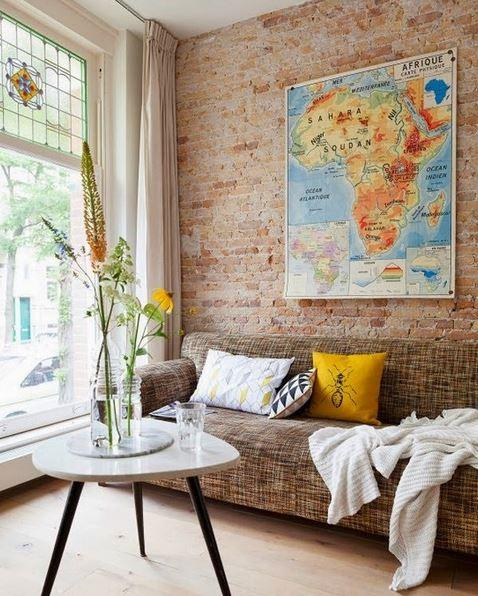 World Map Travel Routes Decoration Poster Ver 3