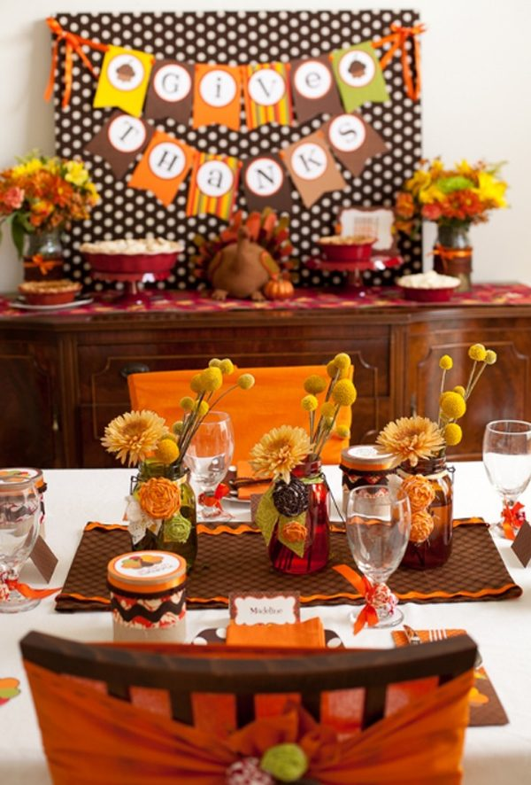 Thanksgiving table decoration ideas  LittlePieceOfMe