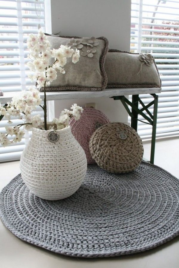 24 Knitted Home Decor Ideas LittlePieceOfMe