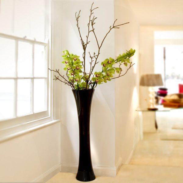 Gl Floor Vases Minimalist Decoration Ideas