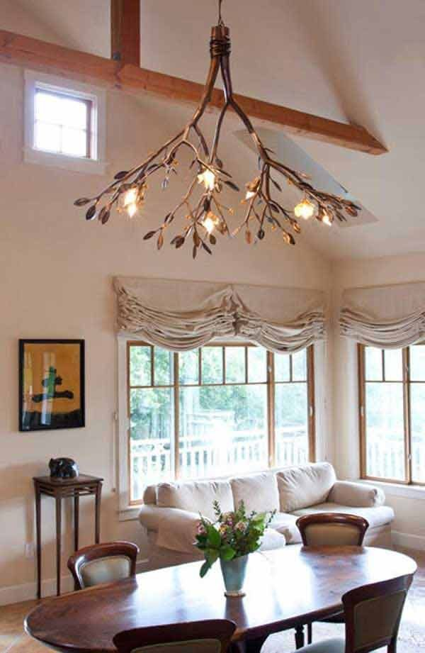 DIY Tree branch chandelier ideas  Little Piece Of Me
