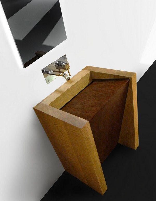 20 Incredible wooden bathroom sinks  Little Piece Of Me