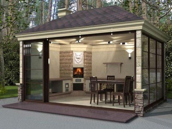 Summer Kitchen Fireplace Ideas Littlepieceofme