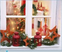 Window decorating ideas for Christmas - Little Piece Of Me