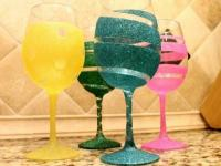 DIY decorated glasses - Little Piece Of Me