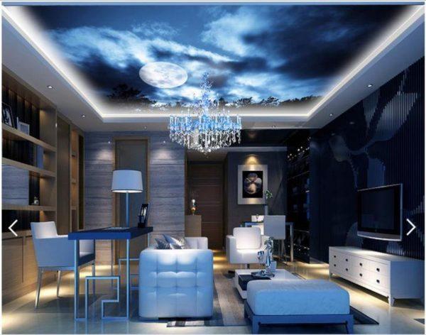 3d Fall Ceiling Wallpaper Alternative For White Ceiling 3d Ceiling Design Ideas
