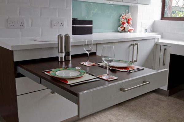 Stylish and practical  sliding table for kitchen  Little