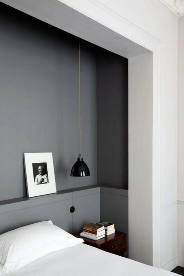 recessed bed in wall