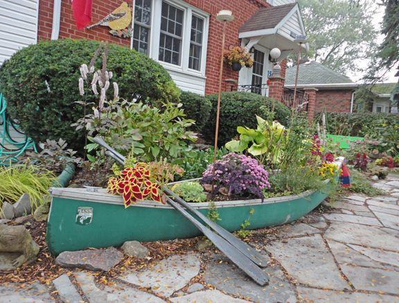 boat shaped garden planters