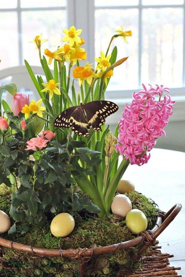 easter basket centerpieces
