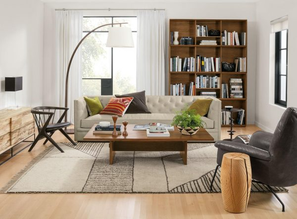 wooden living room decor