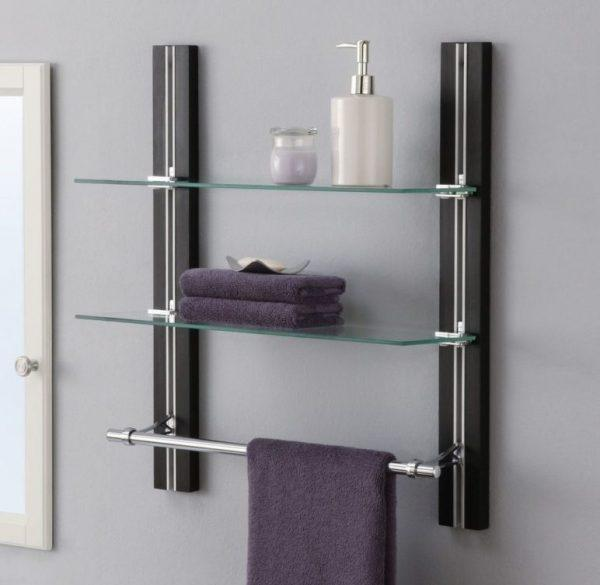 wall mounted bathroom shelves