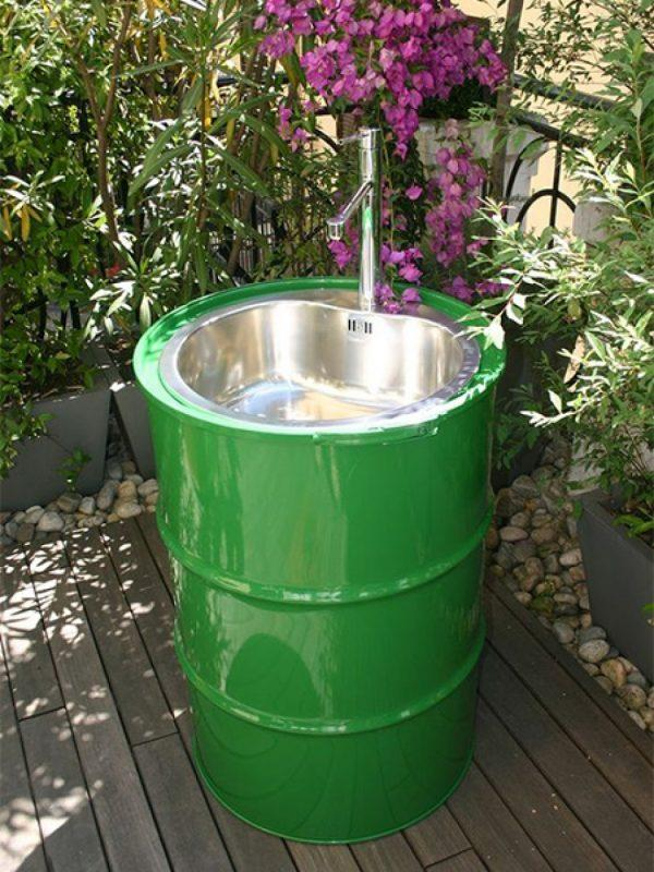 recycled oil drum furniture