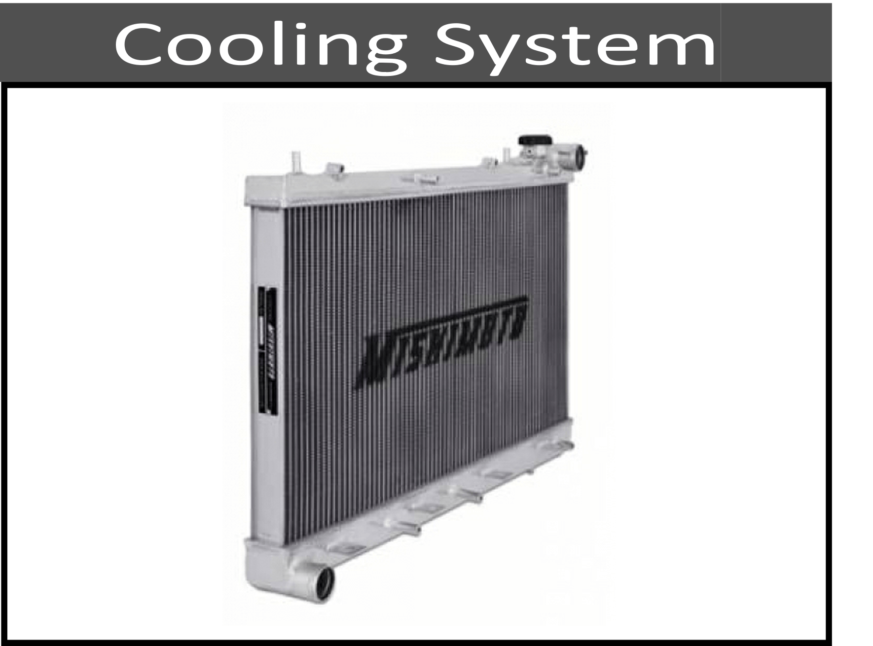 hight resolution of cooling system components differential