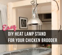 Easy DIY Heat Lamp Stand for your Chicken Brooder - Little ...