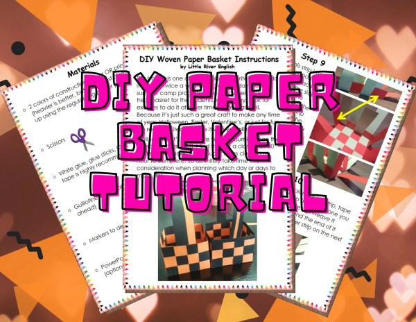 DIY Paper Basket Tutorial product cover