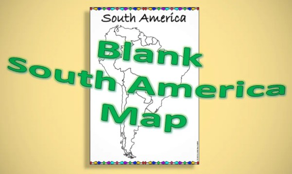 Blank map of South America product cover