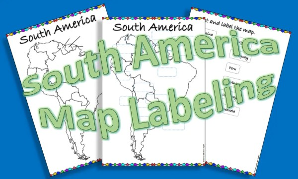 South America map labeling product cover