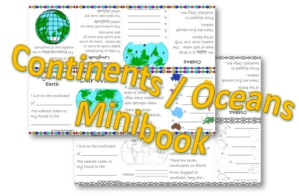 Continents and oceans minibook cover photo