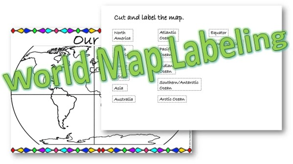 World map labeling resource cover photo