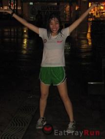 Barefoot Running In Rain