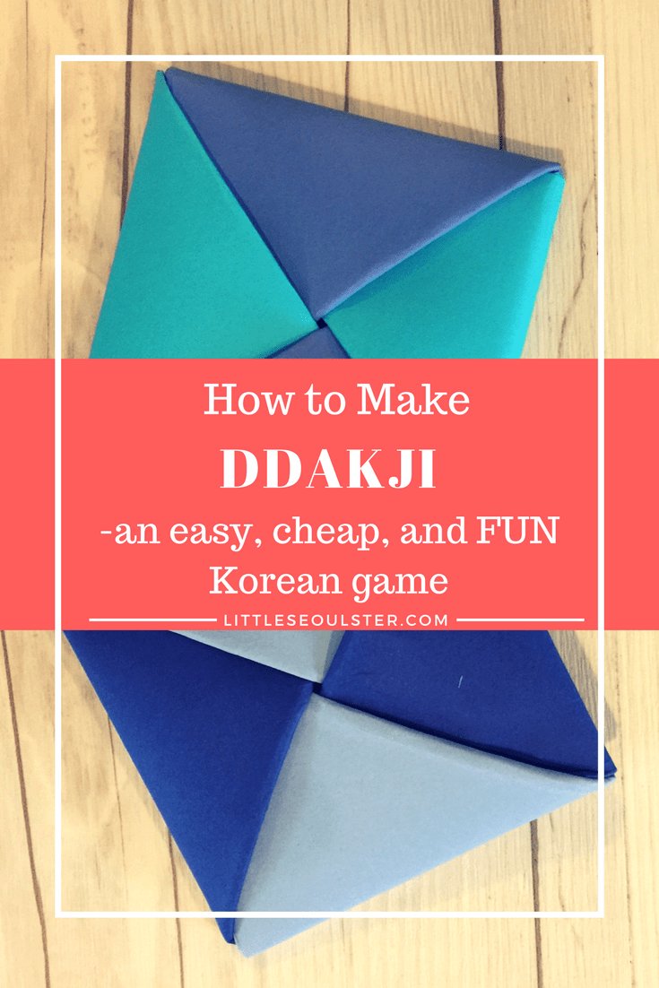 How to Make Ddakji - an easy, cheap, and FUN Korean game