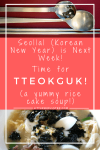 Seollal (Korean New Year) is Next Week! Time for Tteokguk! (It's a yummy rice cake soup!)