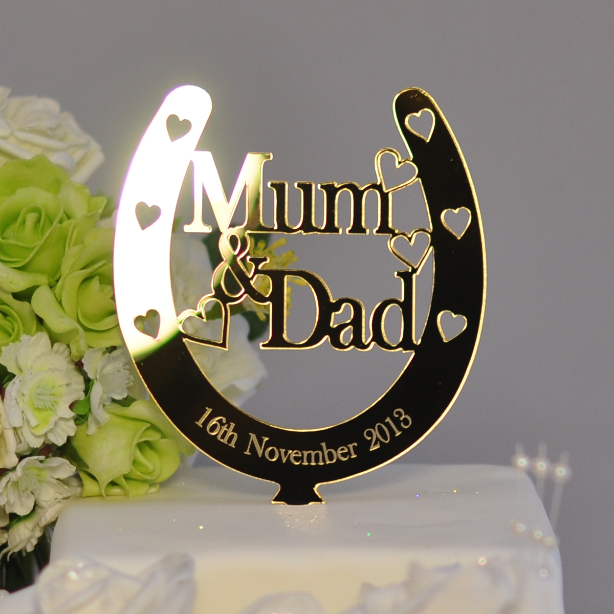 Mum Amp Dad Wedding 50th Anniversary Golden Personalised