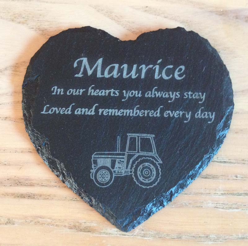 wooden signs for kitchen sink drain kit slate heart memorial | personalised garden design ...