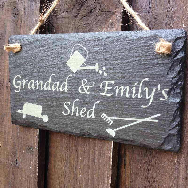 Garden Signs Personalised With Garden Tools Personalised