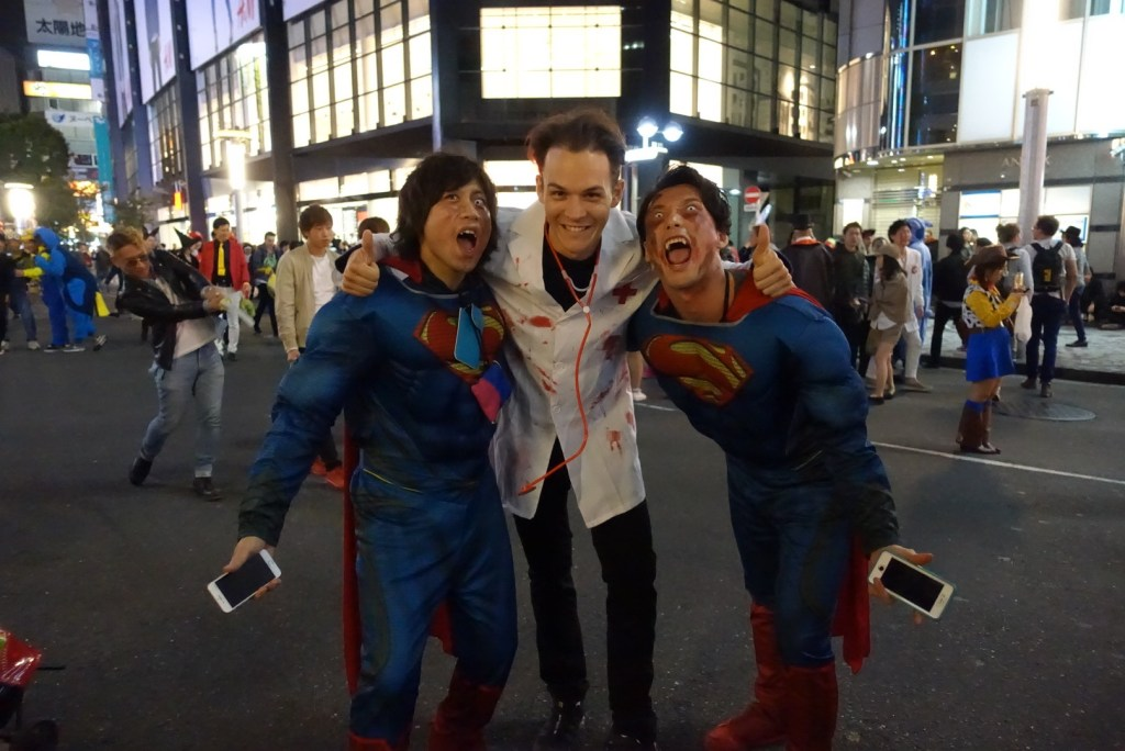 Bloody doctor and two crazy Supermen.