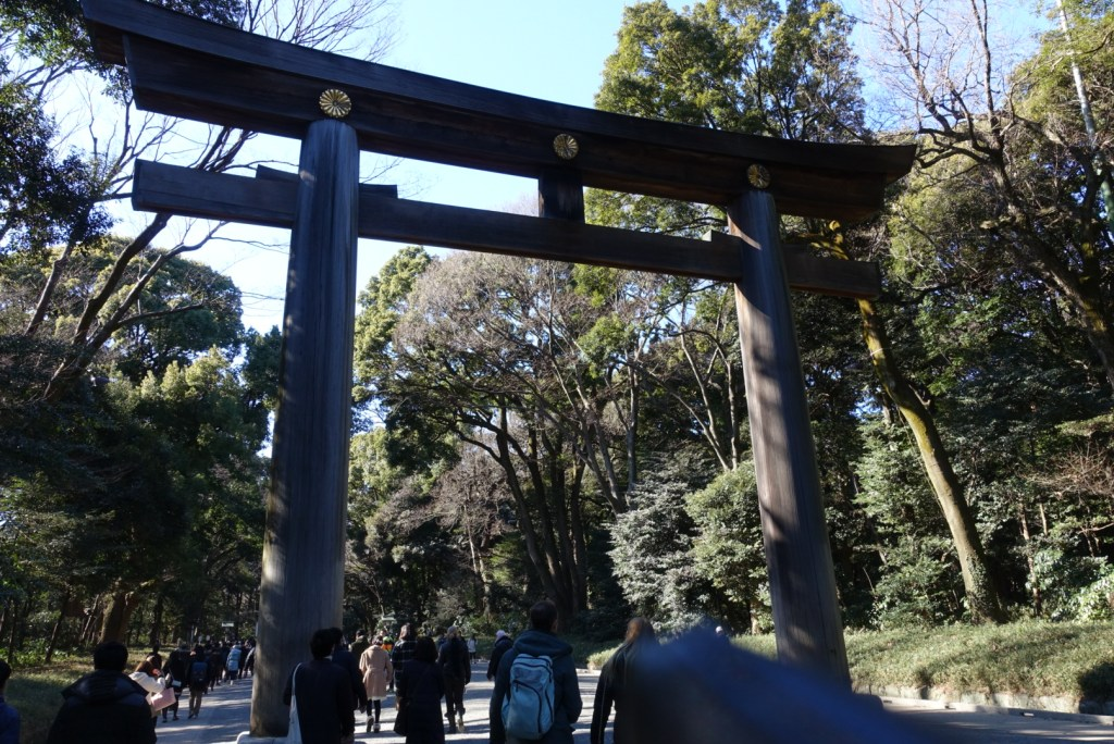 You'll pass by huge shrine gates. It's actually the biggest wooden 'torii' in Japan!