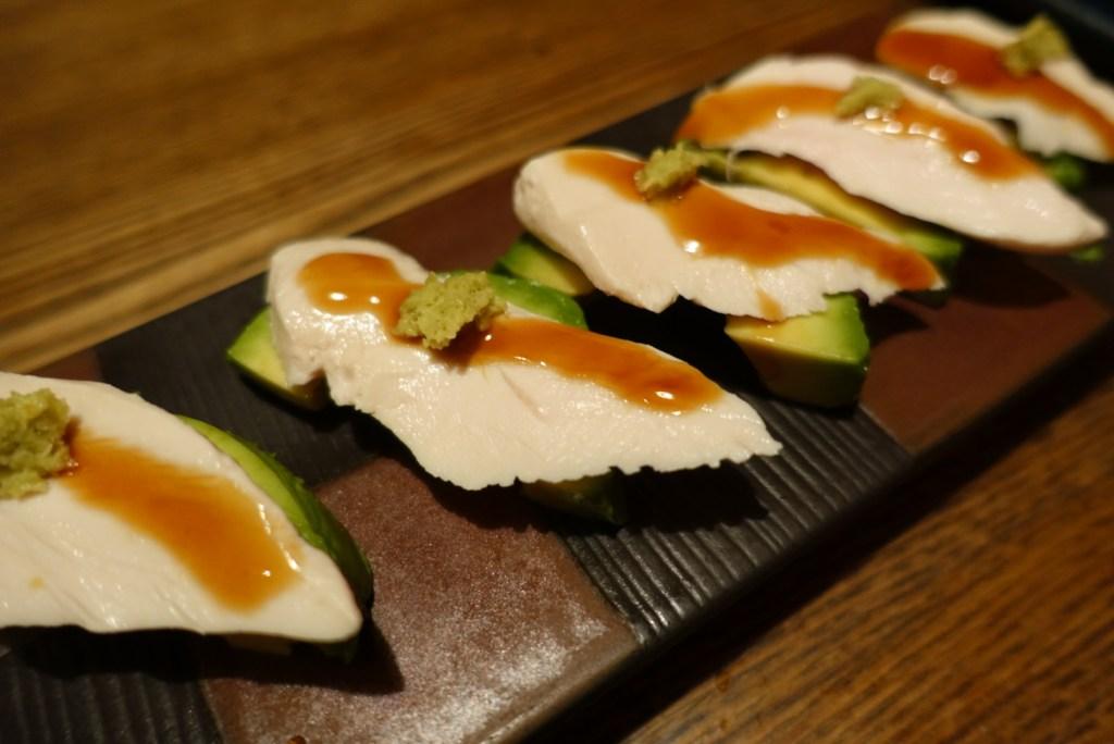 tokyo ebisu izakaya chicken avocado