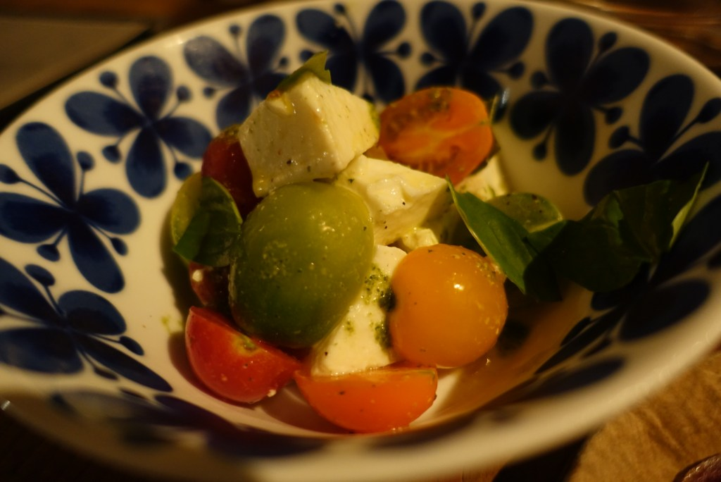 You will never go wrong with tomatoes and mozzarella!