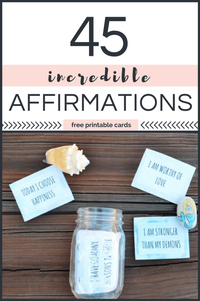 It is a graphic of Bewitching Affirmation Cards Printable