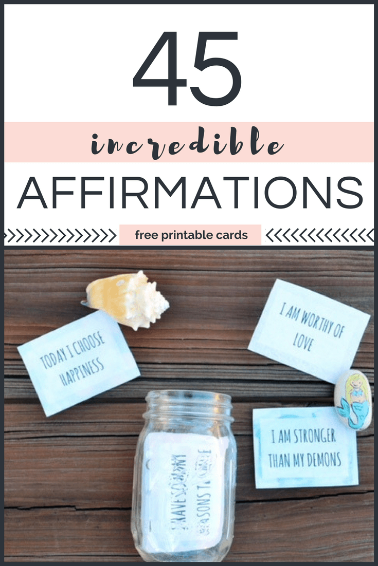 photograph about Free Printable Affirmation Cards named 45 Extraordinary Beneficial Affirmations for Children - Littles, Lifetime