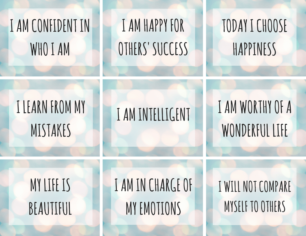 Image result for examples of positive affirmations for kids""