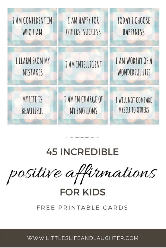 Bewitching image regarding printable positive affirmations