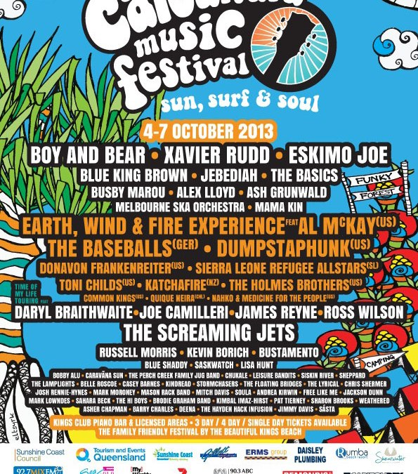 Three Little Sparrow artists confirmed to play Queensland's Caloundra Music Festival 2013