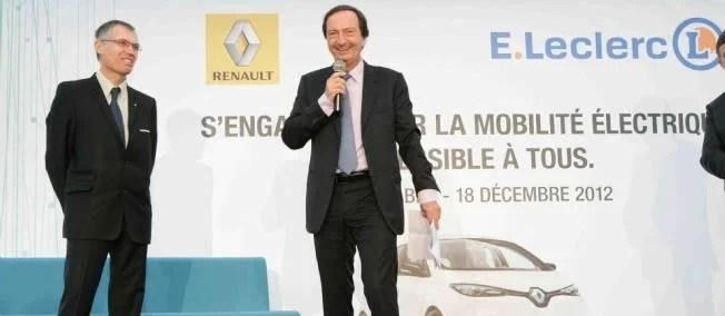 Partenariat Renault Leclerc pour promouvoir la voiture électrique