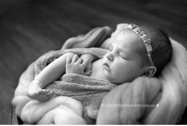 black and white beautiful baby portraits